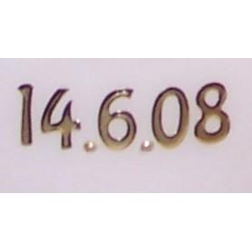 Zusätzliches Datum auf der Kerze